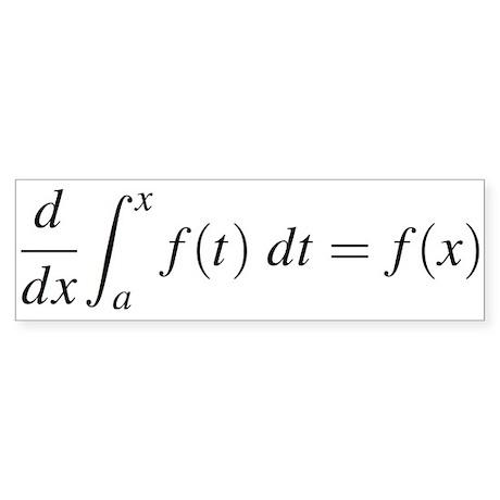 Derivative of an Integral Bumper Sticker