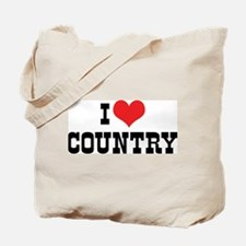 I Love Country 2 Tote Bag