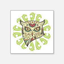 """Sugar Owl Square Sticker 3"""" x 3"""""""