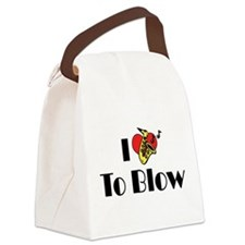 I Love To Blow Canvas Lunch Bag