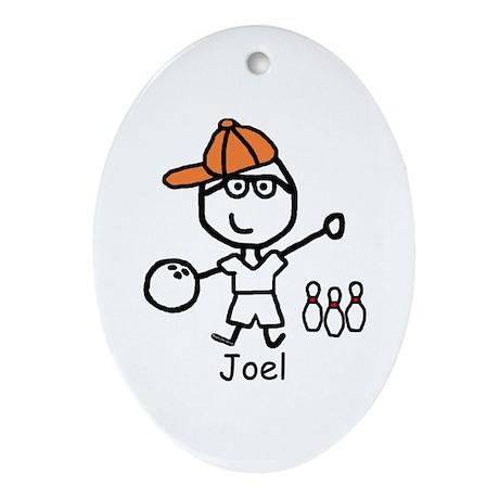 Bowling - Joel Oval Ornament