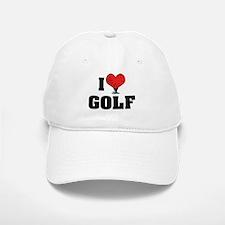 I Love Golf 2 Baseball Baseball Cap