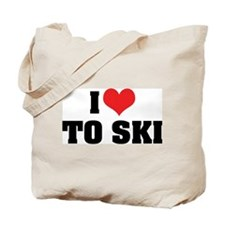 I Love To Ski Tote Bag