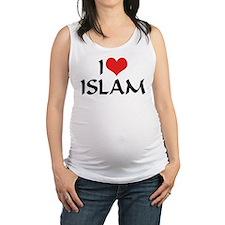 I Love Islam Maternity Tank Top