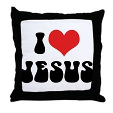 I Love Jesus 2 Throw Pillow