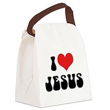I Love Jesus 2 Canvas Lunch Bag