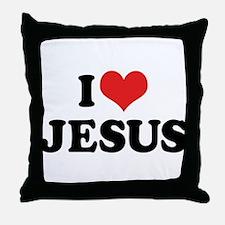 I Love Jesus 3 Throw Pillow