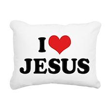 I Love Jesus 3 Rectangular Canvas Pillow