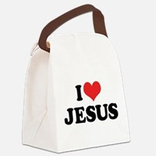 I Love Jesus 3 Canvas Lunch Bag