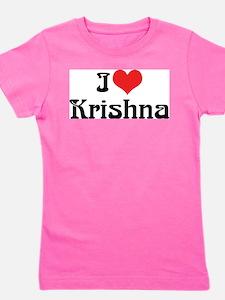 I Love Krishna Girl's Tee