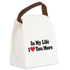 In My Life I Love Canvas Lunch Bag
