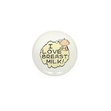 I Love Breast Milk (button) Mini Button (100 pack)