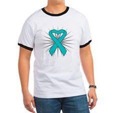 Ovarian Cancer Heart Ribbon T
