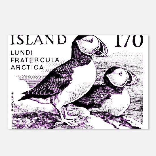 1980 Iceland Atlantic Puffins Postage Stamp Postca