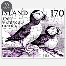 1980 Iceland Atlantic Puffins Postage Stamp Puzzle