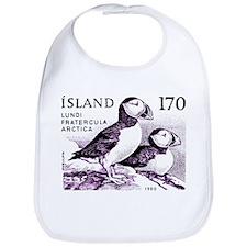 1980 Iceland Atlantic Puffins Postage Stamp Bib