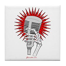 Rockabilly Microphone Tile Coaster
