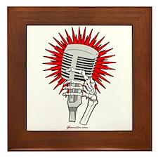 Rockabilly Microphone Framed Tile