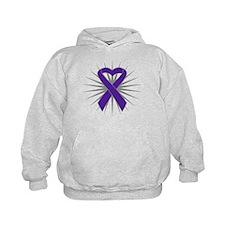 Pancreatic Cancer Heart Hoodie