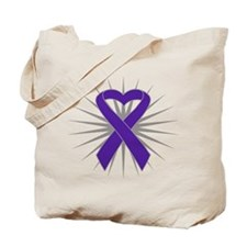 Pancreatic Cancer Heart Tote Bag