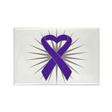 Pancreatic Cancer Heart Rectangle Magnet