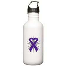 Pancreatic Cancer Heart Water Bottle