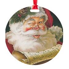 Winking Santa - Vintage Series Ornament
