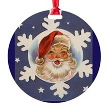Santa on Snowflake - Vintage Series