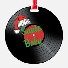 Santa Baby Vinyl Record - Ornament