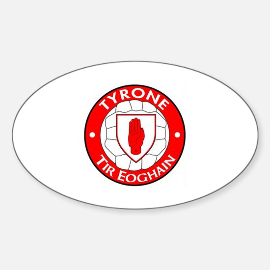 tyrone oval sticker