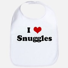 I Love Snuggles Bib