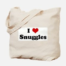 I Love Snuggles Tote Bag