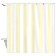 Lemon Drop Yellow Stripes Shower Curtain