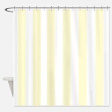 Lemon Drop Yellow Stripes Shower Curtain
