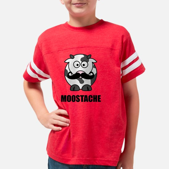 Moostache Cow Youth Football Shirt