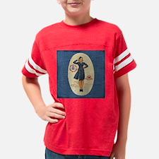 Denim Flight Attendant Wrap Youth Football Shirt