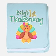 Babys 1st Thanksgiving baby blanket