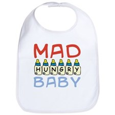 Mad Hungry Baby Boy Bib