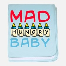 Mad Hungry Baby Boy baby blanket