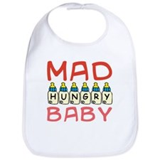 Mad Hungry Baby Girl Bib