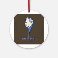 Friedrip Nietzsche Ornament (Round)