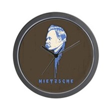Friedrip Nietzsche Wall Clock