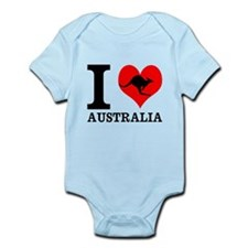 I Love Australia Body Suit