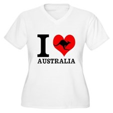 I Love Australia Plus Size T-Shirt
