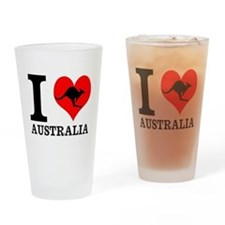 I Love Australia Drinking Glass