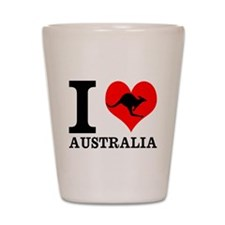 I Love Australia Shot Glass