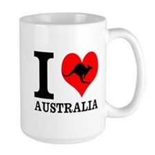 I Love Australia Mugs