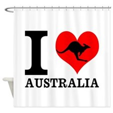 I Love Australia Shower Curtain
