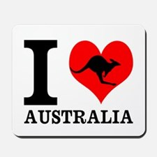 I Love Australia Mousepad