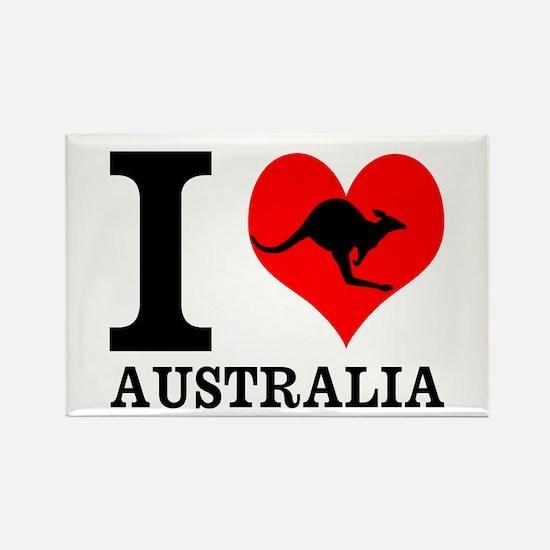 I Love Australia Magnets
